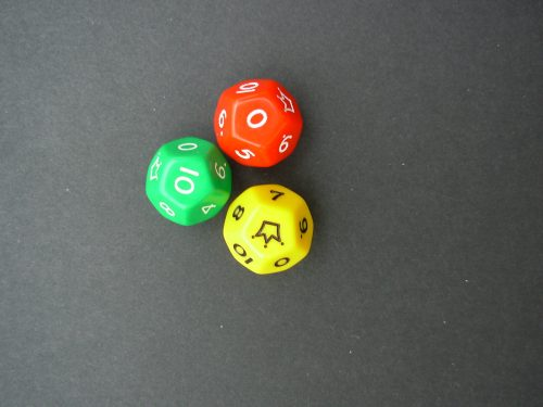 Dice - twelve - sided with joker-0