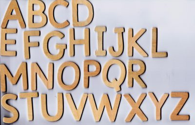 Wooden capital letters-0
