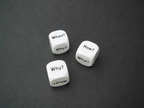 Dice - question words-0