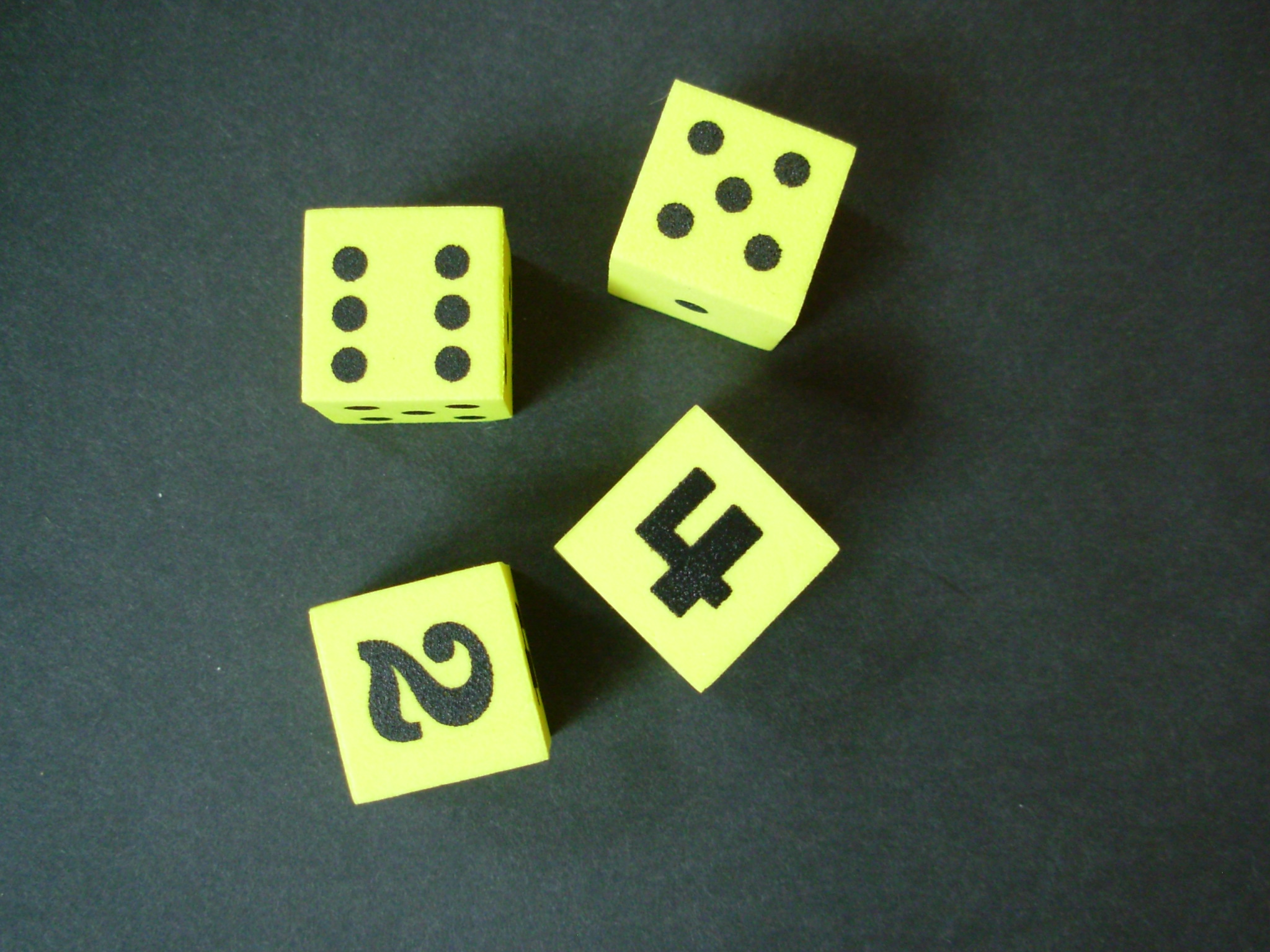 Dice- foam with numbers-0