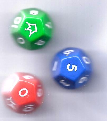 Dice - twelve-sided with joker-0