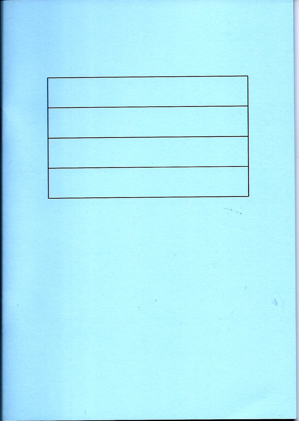 Blue writing book-0
