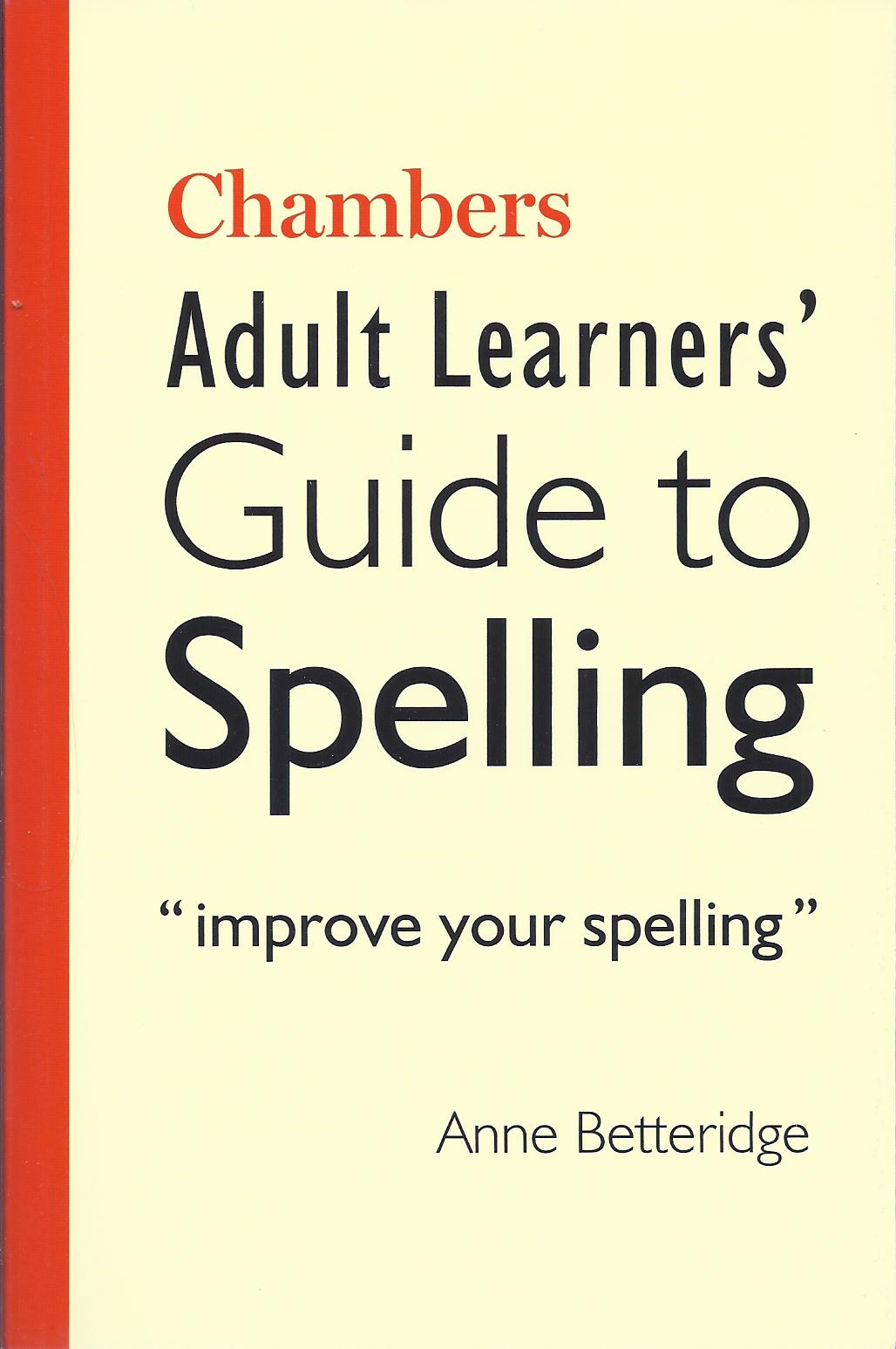 Adult Learner's Guide to Spelling-0