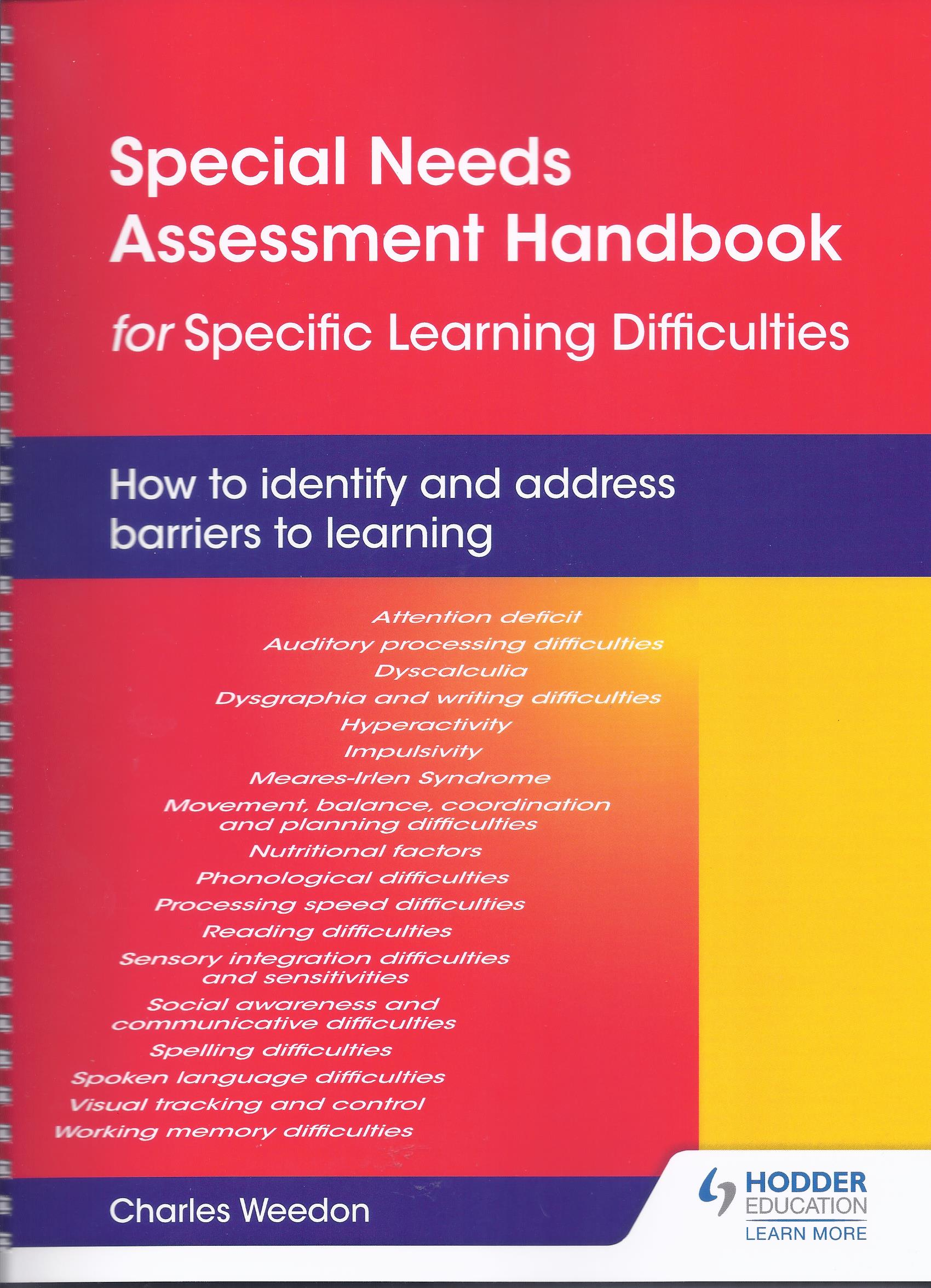 Special Needs Assessment Handbook for Specific Learning Difficulties-0