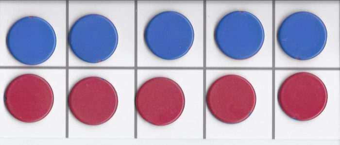 Counters - double-sided red and blue plus frame-0