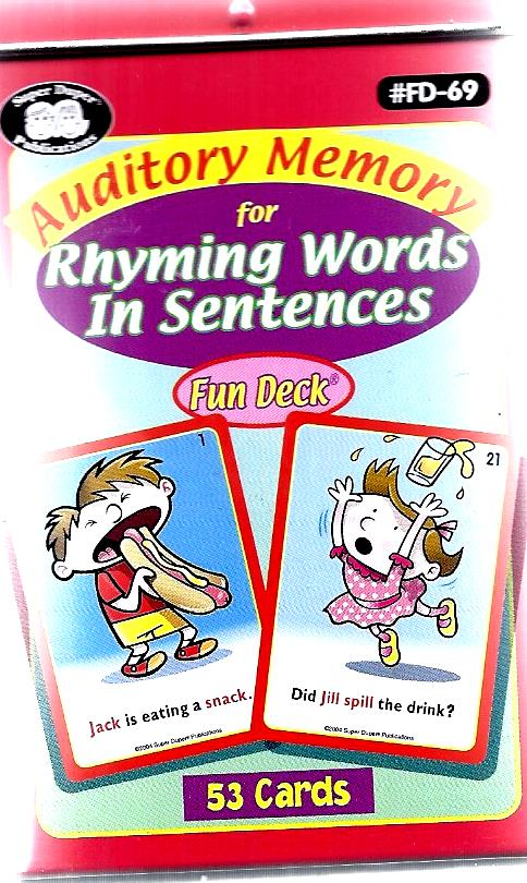Auditory Memory for Rhyming words in Sentences-521