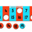 1 - 20 Number track with Pop-Out Counters-0